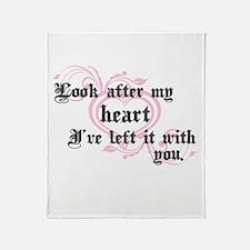 Edward Heart Twilight Throw Blanket