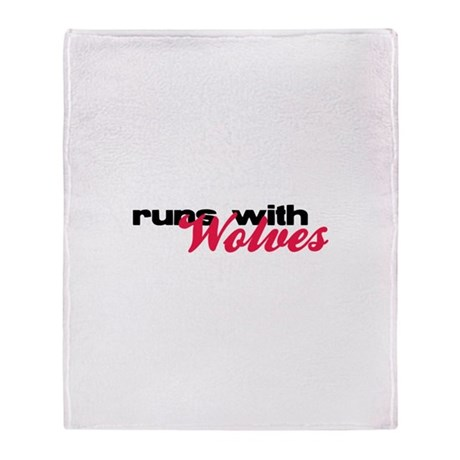 Runs With Wolves Throw Blanket
