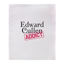 Edward Cullen Addict Throw Blanket