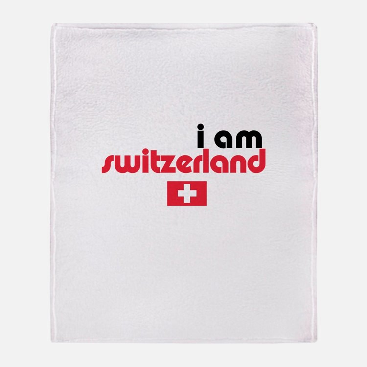 I Am Switzerland Throw Blanket
