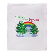 Forks Is For Lovers Throw Blanket