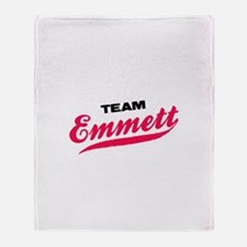 Team Emmett Twilight Throw Blanket