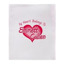 Emmett Cullen Heart Throw Blanket