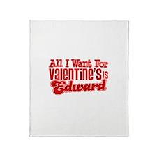 Edward Valentine Throw Blanket