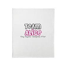 Team Alice Twilight Throw Blanket