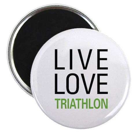 "Live Love Triathlon 2.25"" Magnet (10 pack)"