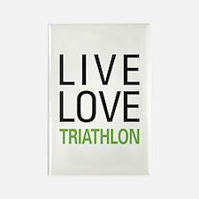 Live Love Triathlon Rectangle Magnet