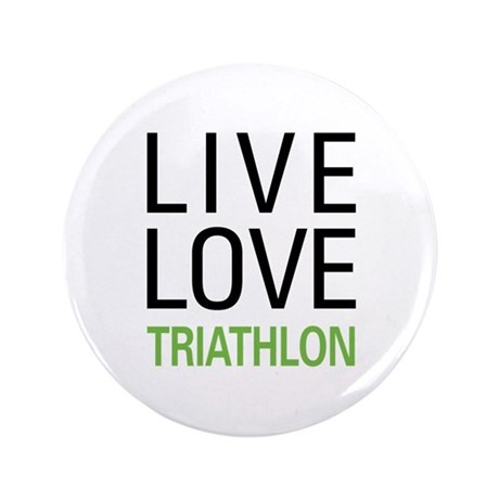 "Live Love Triathlon 3.5"" Button (100 pack)"