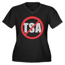 No TSA Women's Plus Size V-Neck Dark T-Shirt