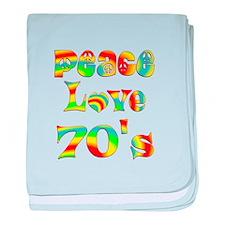 Retro 70's baby blanket