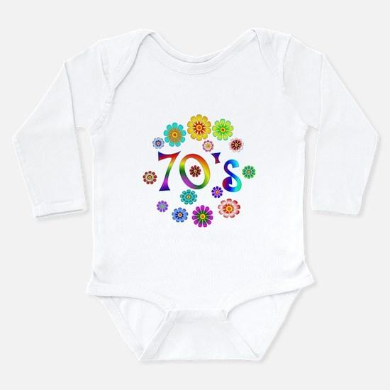 70s Long Sleeve Infant Bodysuit