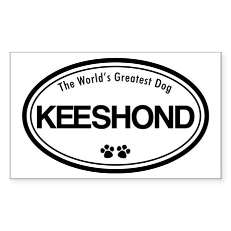 World's Greatest Keeshond Rectangle Sticker