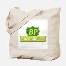 BP Oil Spill Vintage Yellow Tote Bag