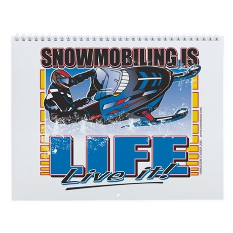 Snowmobile Calender Wall Calendar