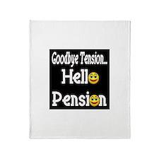Retirement Pension Throw Blanket