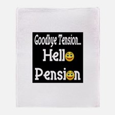 Retirement Pension Throw Blanket