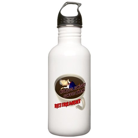 Retirement Coffee Break Stainless Water Bottle 1.0