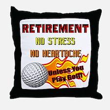 Retirement No Stress Throw Pillow