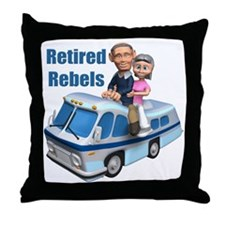 Retired Rebels Throw Pillow