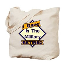 Retired Military Soldier Tote Bag