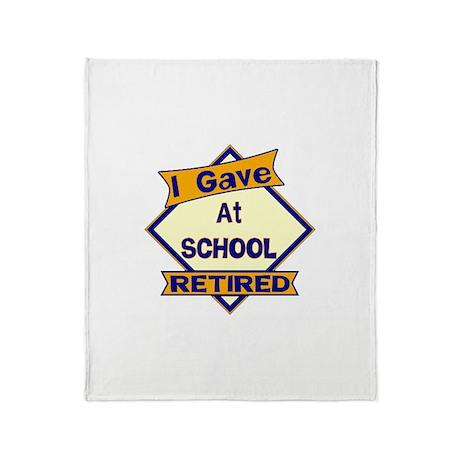 Retired School Teacher Throw Blanket