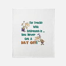 Retirement Days Throw Blanket