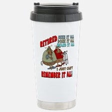 Retirement Memory Stainless Steel Travel Mug