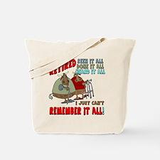Retirement Memory Tote Bag