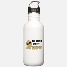 Retired With One Boss Water Bottle