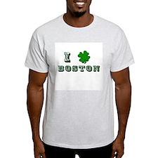 St Patricks Boston Ash Grey T-Shirt