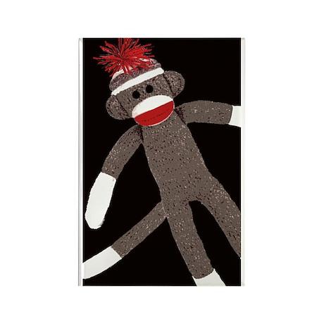 Sock Monkey Rectangle Magnet