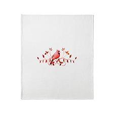 Graceful Cardinal Throw Blanket