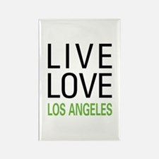 Live Love Los Angeles Rectangle Magnet