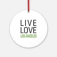 Live Love Los Angeles Ornament (Round)
