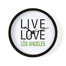 Live Love Los Angeles Wall Clock