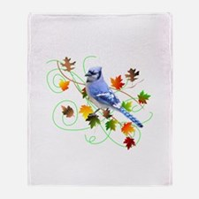 Blue Jay Throw Blanket