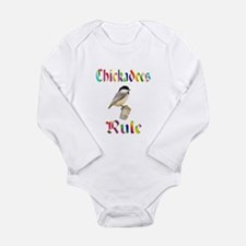 Chickadees Rule Long Sleeve Infant Bodysuit
