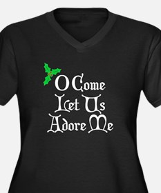 O Come Let Us Adore Me Women's Plus Size V-Neck Da