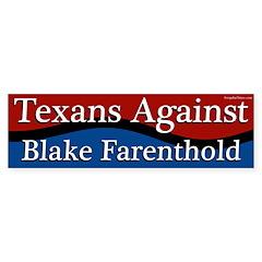 Texans Against Blake Farenthold bumper sticker