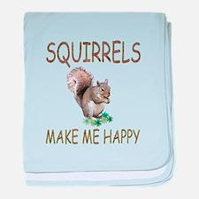 Squirrels baby blanket