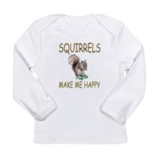 Squirrels Long Sleeve Infant T-Shirt