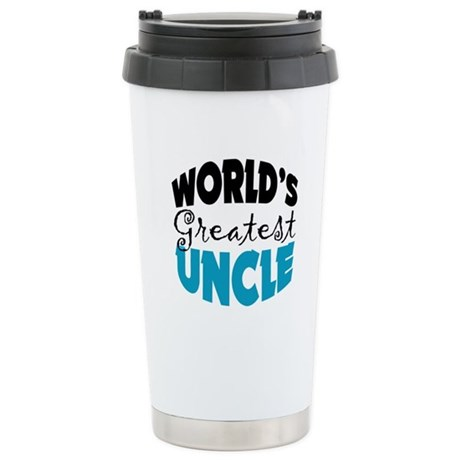 Worlds Greatest Uncle Stainless Steel Travel Mug