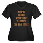 Rope Rack Shirt on My Back Women's Plus Size V-Nec