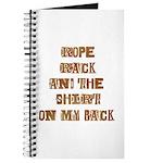 Rope Rack Shirt on My Back Journal