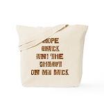 Rope Rack Shirt on My Back Tote Bag
