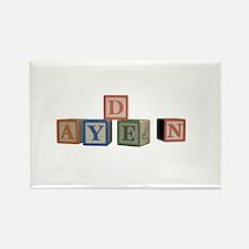 Ayden Alphabet Block Rectangle Magnet