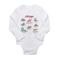 Cat YOGA POSES Long Sleeve Infant Bodysuit