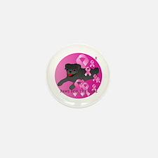 Black Pug Mini Button (10 pack)