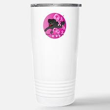Black Pug Stainless Steel Travel Mug