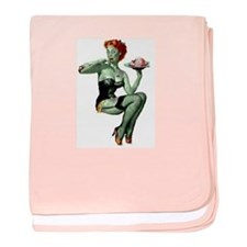 zombie pin-up girl baby blanket